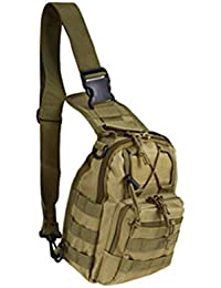 Tactical Waist Pack Cross Body Bag Military Waterproof Fanny Packs Bag Pouch For Hiking Climbing Outdoor (Khaki)
