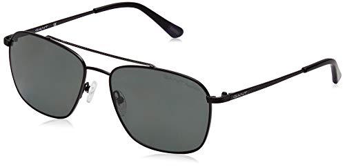 GANT Herren GA7072 Sonnenbrille, Schwarz (Matte Black/Green Polarized), 59.0