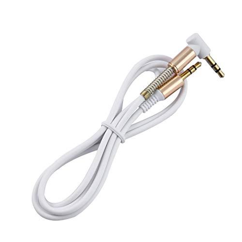 LouiseEvel215 3,5mm Jack 1 mt aux Audio Kabel stecker auf stecker Kabel Gold stecker Linie Kabel frühling Audio Kabel für Telefon Auto Lautsprecher kopfhörer - A-linie Frühling