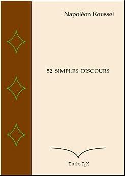 52 Simples Discours par [Roussel, Napoléon]