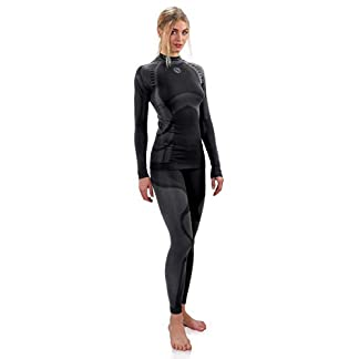 Sesto Senso® Women Functional Underwear Set Long Johns Leggings and Long Sleeve Vest T-Shirt Base Layer 7