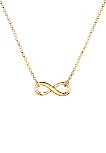 Elli Damen Halskette mit Infinity Symbol Unendlichkeit in 925 Sterling Silber 45 cm lang