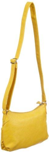 Tamaris Ester Crossover Bag A-1-100-45-301, Damen Umhängetaschen 22x20x3 cm (B x H x T) Gelb (yellow 600)