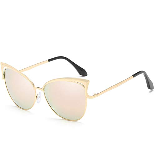 YONGYONG-Sunglasses Neue Katze Brille Sonnenbrillen Mode Trend Sonnenbrillen Unisex-Farbfilm Katze Ohren Sonnenbrillen Outdoor-Sport Fahren (Farbe : Pulver)