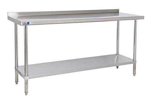 Banco de pared mesa de acero inoxidable resistente a trasera soporte vertical...