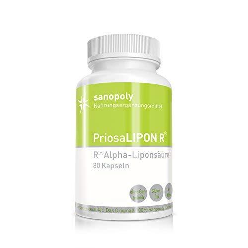 PriosaLIPON® R I 100% reine & hochwertige R(+)-Alpha-Liponsäure I geprüfte Qualität I vegetarisch I 80 Kapseln