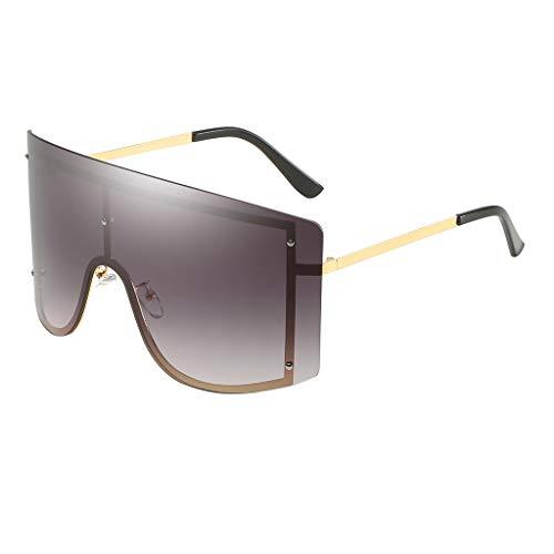 Lazzboy Mode Mann Frauen übergröße Sonnenbrille Brille Shades Vintage Retro Style Klassische Polarisierte Damen Mit Strass Rahmen Sunglasses Für Fahren Reisen(H)