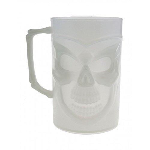 Halloween Dekoration Trinkbecher / Tasse / Krug mit Henkel nachtleuchtend - fluoreszierend /...