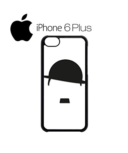 Hat and Moustache Comedy Swag Mobile Phone Case Back Cover for iPhone 6 Black Blanc