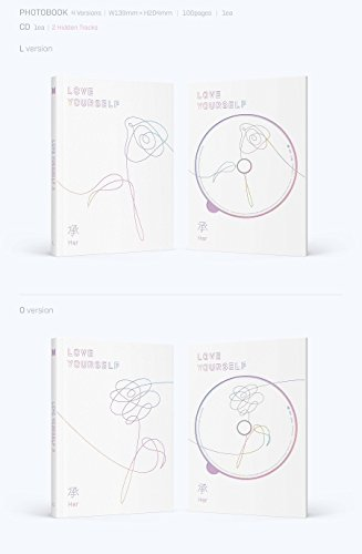 BTS - LOVE YOURSELF 承 [Her] [E ver.] +Photobook+Photocard+Folded Poster+ Store Gift 10 Photo Set + Kpop Mask