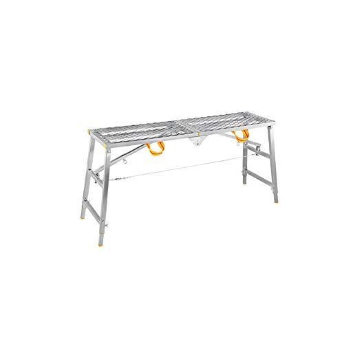 LBYMYB Escalera Plegable Banco Multifuncional portátil para Caballos Subida y caída andamio Plataforma de ingeniería Escalera de heces Engrosamiento decoración Taburete (Size : 180cm*40cm)