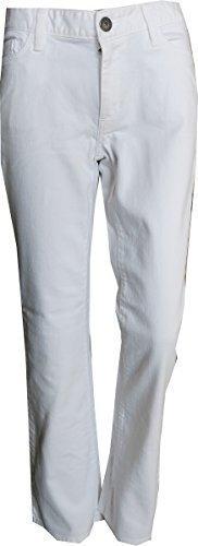 Jeans Booutcut Donna Breve formato di Eddie Bauer Bianco