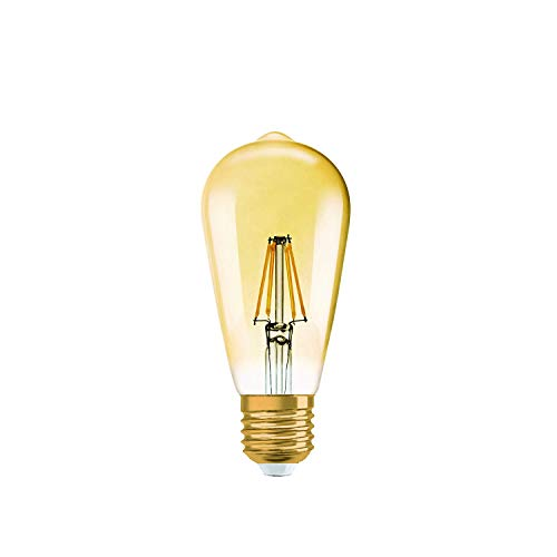 Osram LED Vintage Edition 1906 Lampe, in Edison Form mit E27-Sockel, dimmbar, Ersetzt 55 Watt, Klar, Warmweiß - 2500 Kelvin, 1er-Pack