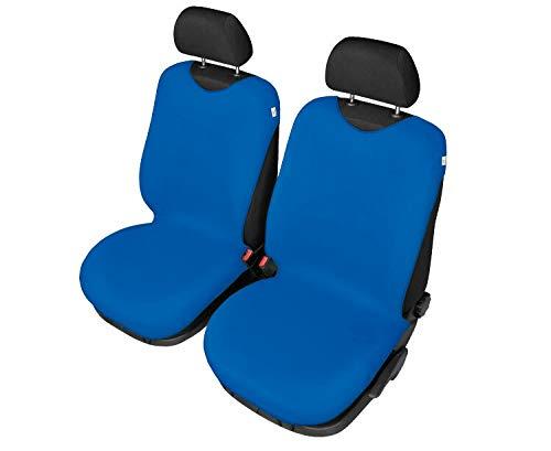 Universelle Schonbezüge Cotton Blau Baumwolle kompatibel mit Dacia Logan MCV - 2 STK im Set - Logan Baumwolle
