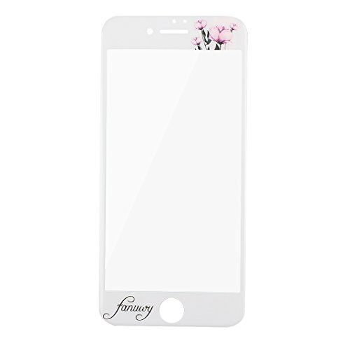 iPhone 7 Schutzhülle, Rosa Schleife Ultra Dünn Slim Case Cover Soft TPU Silikon Hülle Backcover für >              Apple iPhone 7              < in 3D Embossed Muster mit Ring Handy halterung und Full Screen Displayschutzfolie Rosa Blume