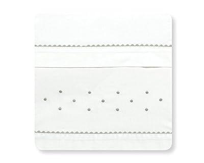 Sabanas 100% Algodón MAXICUNA 70X140 - Romantic Blanco/Gris (bajera+encimera+funda almohada)