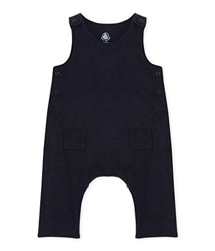 Petit Bateau Unisex Baby Latzhose Salopette Longue Smokin 2483684, Blau (Smoking 84), 62 (Herstellergröße: 3m/60cm)
