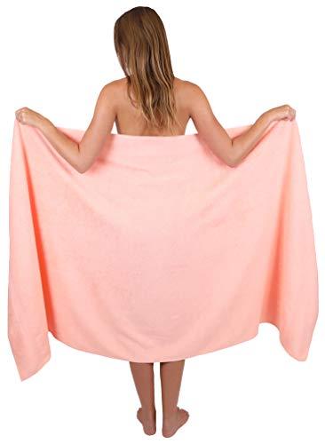 Betz Badetuch groß XXL Größe 100 x 200 cm Badetücher Saunatuch Palermo 100% Baumwolle Farbe Apricot
