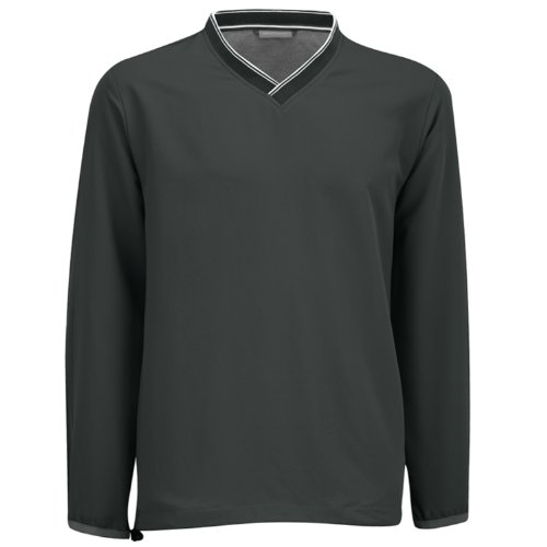 Ashworth Golf - Herren Langarm-Funktionsshirt - V-Ausschnitt - Grau - Größe S (Herren Ashworth Golf-t-shirts)