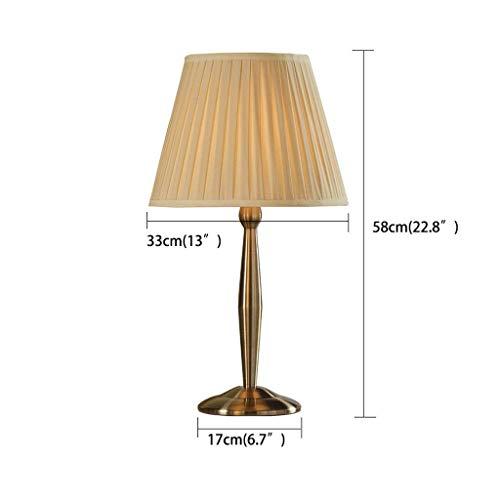 ChuanHan Ceiling Fan Light Chandelier Lightings Table Lamp European Style Chrome Imitation Metal Iron Table Beige Shade Living Room Button Desk