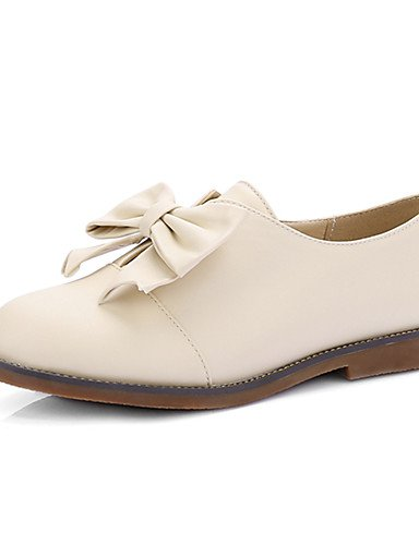 WSS 2016 Chaussures Femme-Décontracté / Habillé-Noir / Rose / Beige-Talon Plat-Talons / Bout Arrondi-Talons-Similicuir pink-us9.5-10 / eu41 / uk7.5-8 / cn42