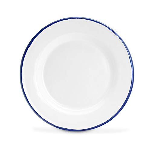 Argon Tableware Premium-weiße Emaille-Dinner Plates - 219mm / 9