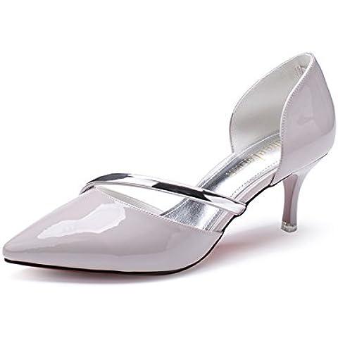 Zapatos de primavera/Versión coreana de las bombas superficiales simple/Zapatos de tacón de aguja punta