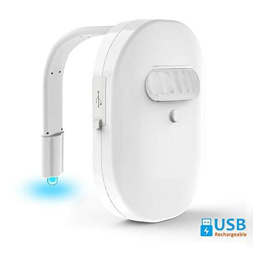 Hlgy lampada a induzione per wc a led - luce colorata ricaricabile, singola induzione impermeabile, adatta per toilette, ecc. (2 confezioni)