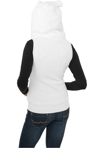 "Urban Classics Femme Jeune Mode ""Ladies Teddy Vest"" Blanc"