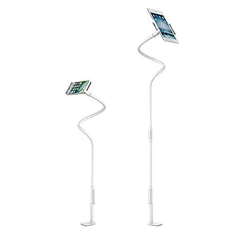 Universal Tablet ständer für Bett, Bidear 360 ° Drehen verstellbarer Desktop Halterung Erweiterbarer ständer für Apple iPad Air, iPad Mini, iPad Pro, Samsung Tab und Smartphones