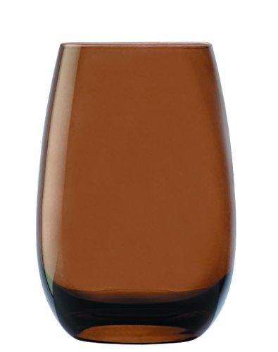 Stölzle Lausitz Elements Kids Taza, 335ml, juego de 6vasos, apto para lavavajillas, vasos multicolores, alta calidad, marrón