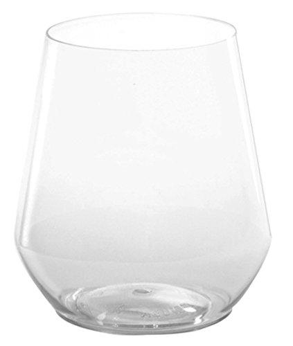 (WNA reservieren Sie 4Zählen ohne Stiel Weingläser aus Kunststoff, 12oz, Klar)