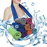Soar Sports Cool Bowling Fitness Yoga Towels, Cool Towel for Instant Cooling Relief