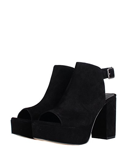 Windsor Smith Divine Black Suede - Sandali Da Donna Neri In Pelle Scamosciata Black