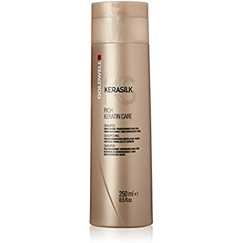 Goldwell Kerasilk Rich Keratin Care Shampoo - Smoothing Transformation (For Unmanageable and Damaged Hair) 250ml