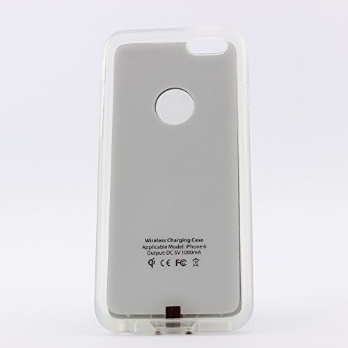 Drahtlos Qi Ladeempfänger für Apple iPhone 6/6S Wireless Charging Case kabellos funk Induktionsladegerät ScorpioCover gold bronze silber
