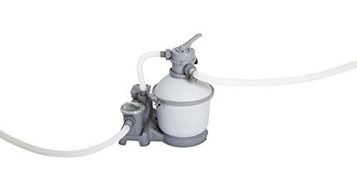 Bestway 58400 - Depuradora de arena (3.785 l/h) - Provista de mangueras compatibles y válvula de seis posiciones. Potencia de 180W - Para piscinas de 1.100 a 30.200 litros