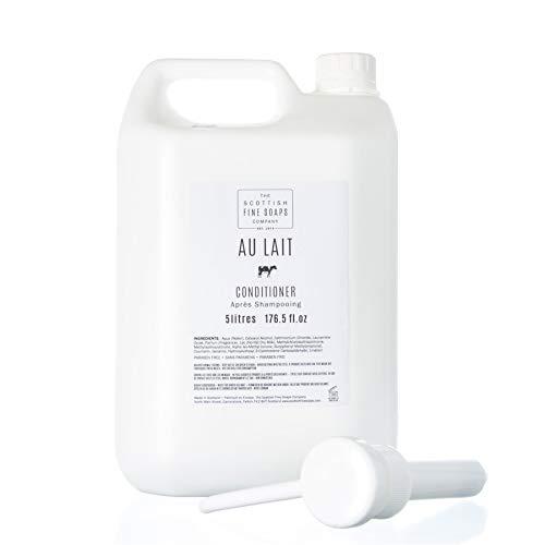 Scottish Fine Soaps Bulk 5L Commercial Au Lait Hair Shampoo Refill with Pump Dispenser