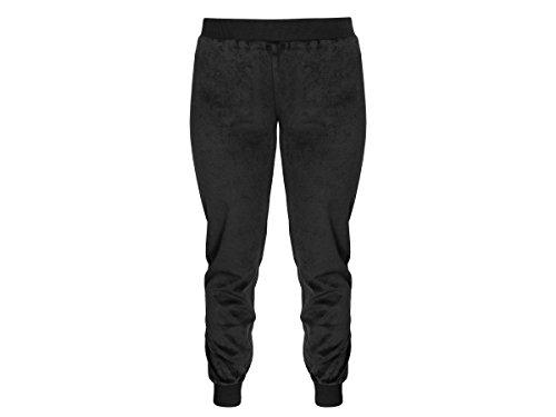 Emporio Armani Velour Hooded Logo Tracksuit - Jacket+Pants white Guffs 7A252 00010 Black