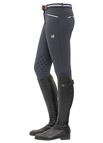 SPOOKS Reithose für Damen Mädchen Kinder, Knee-Grip-Besatz Reithosen Leggings Turnierreithose - Lucy Knee Grip - Night Blue S