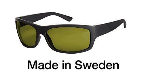 Blaulichtfilter - Sportbrille - Wrap-around Brille, Blue Blocker mit Kantenfilter 450 und 60% Grautönung, UV-Schutz, Blendschutz, kontraststeigernde Unisex-Lichtschutzbrille IV PROSHIELD