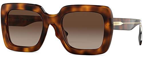 BURBERRY Sonnenbrillen Striped Check BE 4284 Light Havana/Brown Shaded Damenbrillen