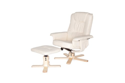 Amstyle Comfort Relaxsessel mit Hocker - 7