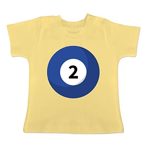 g Baby - Billard Kugel 2 Kostüm - 1-3 Monate - Hellgelb - BZ02 - Baby T-Shirt Kurzarm ()