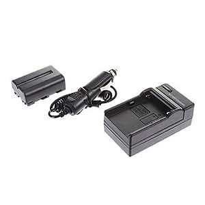 ismartdigi Sony NP-FM500H 1650mAh, 7.2V appareil photo Chargeur de batterie + voiture pour SONY A57 A65 A77 A450 A560 A580 A90