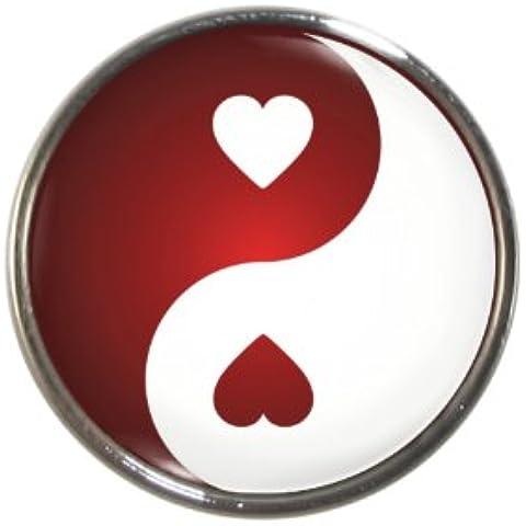 Red Heart, a forma di Yin Yang con magnete per