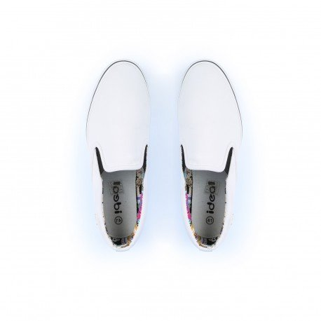 Ideal Shoes - Slippers pour hommes Lazaro Blanc