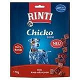 Rinti Chicko Mini - kl. Stückchen Rind | 9 x 170g Hundesnack