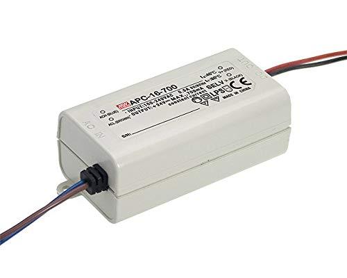 LED Netzteil 16W 9-24V 700mA ; MeanWell, APC-16-700 ; Konstantstrom