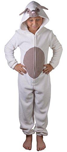 Herr Mops Kostüm - Mädchen Kinder mit Kapuze Einhorn Bademantel Einteiler Kostüm Nachtwäsche Kuschelig Weihnachten Geschenkidee - 3D Mops Hund, 3-4